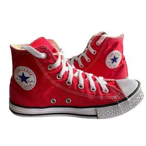 Kids High Top Red Converse Size 3 Shoes Chucks